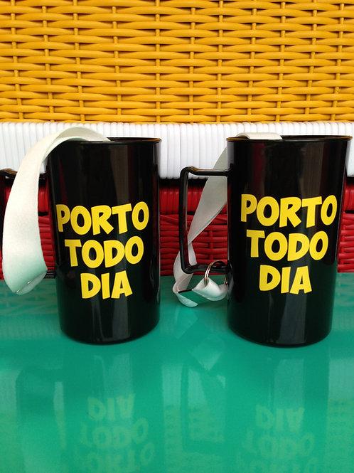 Caneca Porto Todo dia com cordinha