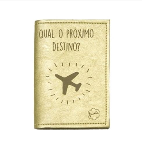 Capa para passaporte - Dourada