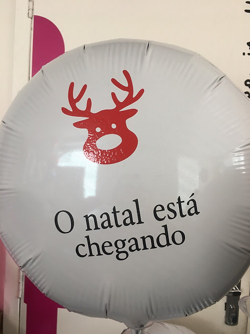 4 balões personalizados O natal está chegando