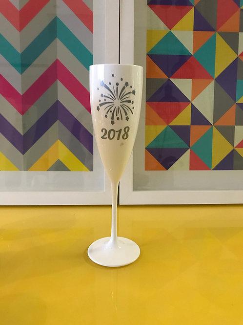 Taça de espumante Feliz Ano Novo