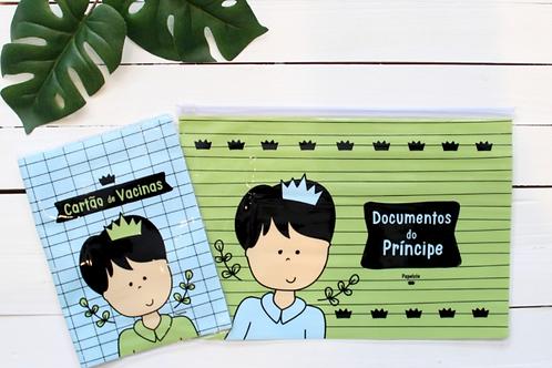 kit porta documento - príncipe