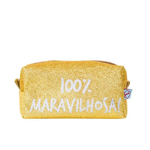 Necessaire 100% maravilhosa Dourada