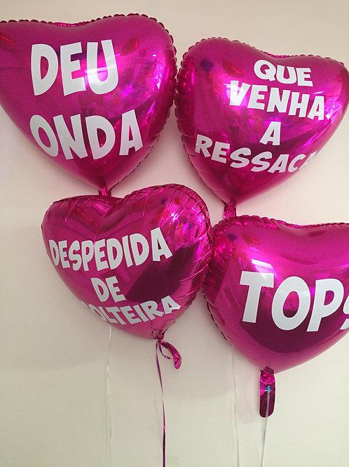 10 balões personalizados