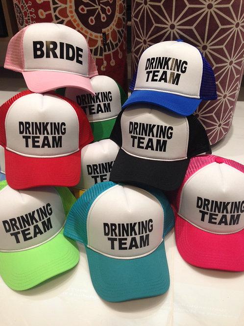 10 Bonés coloridos Drinking Team