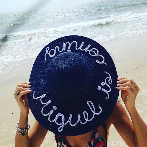 Chapéu marinho personalizado