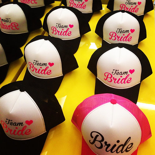 Kit: 11 bonés Team Bride + 11 taças