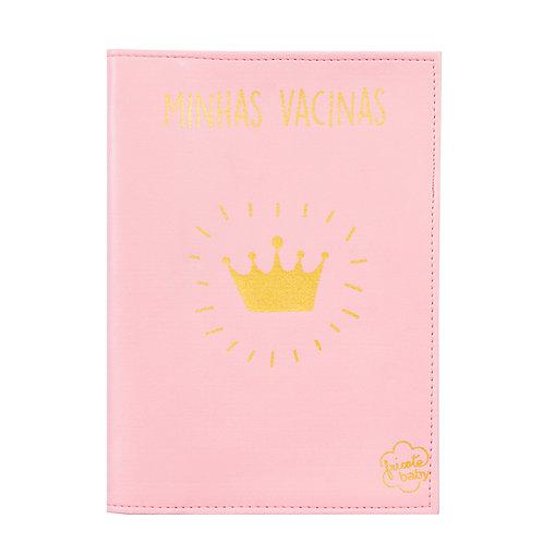 Capa carteira de vacinação - Coração rosa