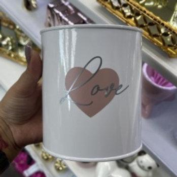 Lata porta Pincel - Love