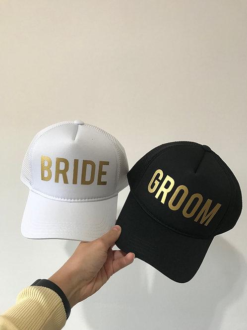 2 Bonés - Noivo e Noiva