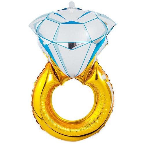 Balão metalizado em formato de aliança