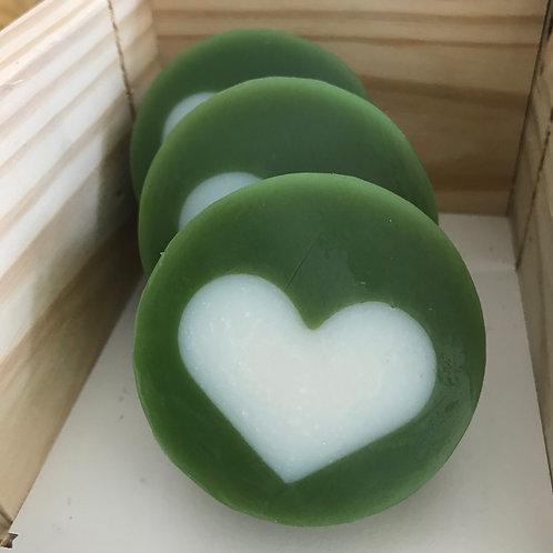 Kit 3 sabonetes artesanais de coração