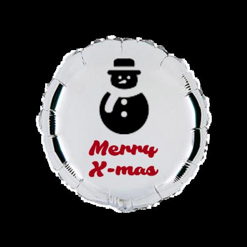 4 balões personalizados Merry X-mas