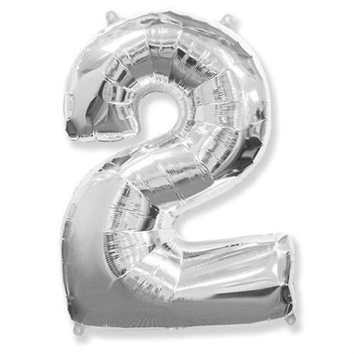 """Balão 40"""" metalizado número 2"""