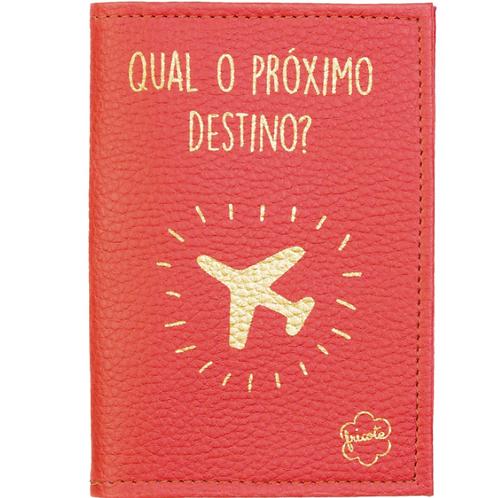 Capa para passaporte - vermelha