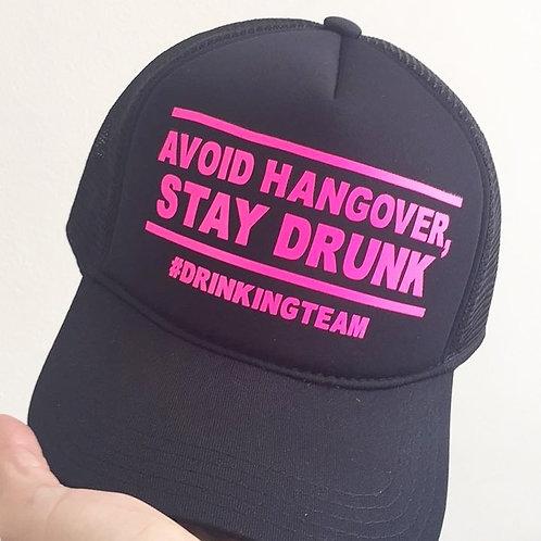 Boné preto Avoid Hangover Stay Drunk