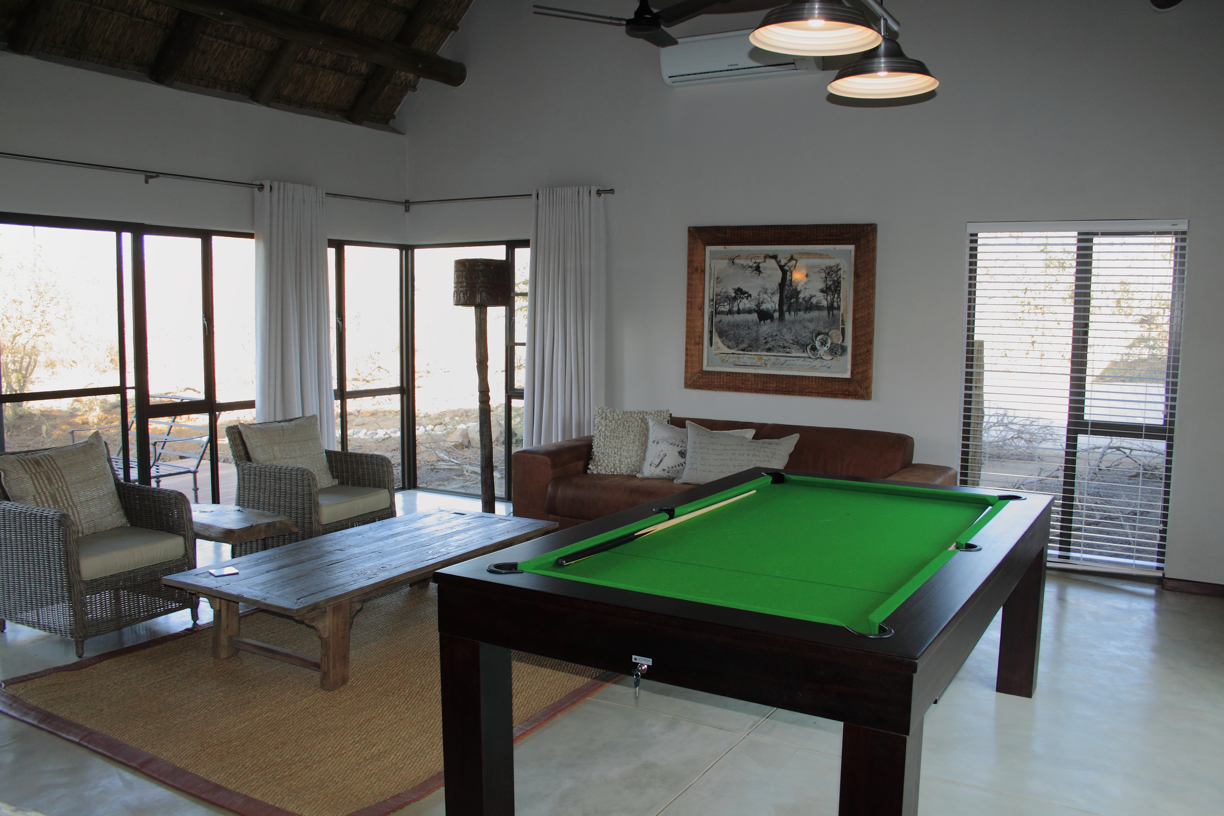 Mjejane Reserve- Inside & Pool Table