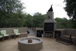 Bonfire area outside