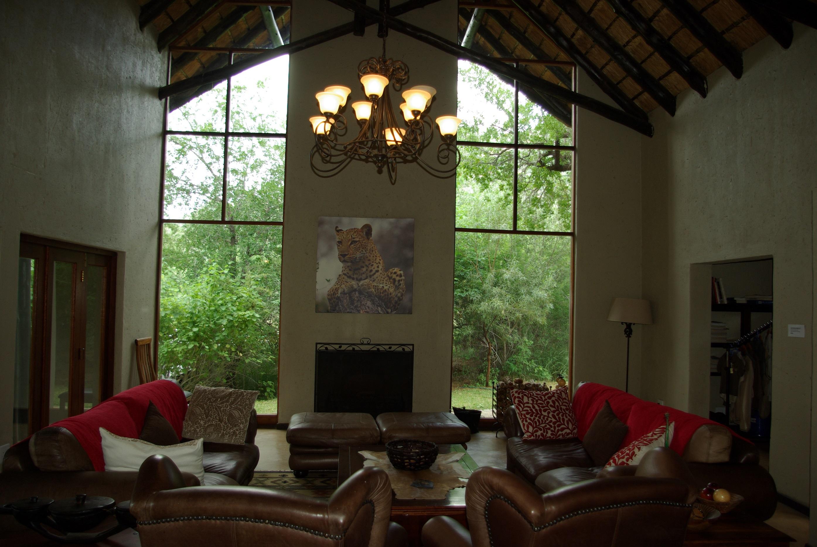 Inside lounging area
