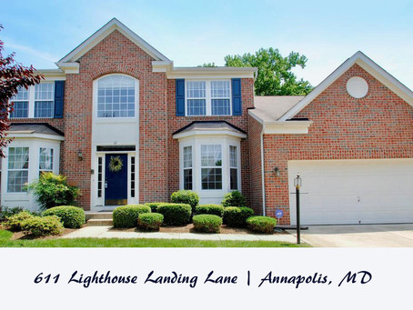 St. Margaret's Landing Colonial {611 Lighthouse Landing Ln, Annapolis, MD ($595,000)}