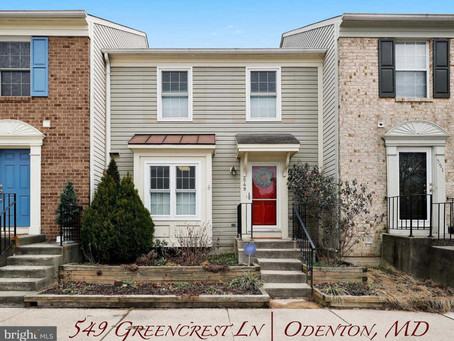 Lions Gate Townhome  - 549 Greencrest Ln, Odenton, MD - $265,000