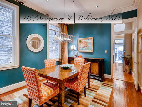 Historic Federal Hill - 115 Montgomery St, Baltimore, MD - $649,900