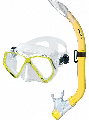Детский набор для плавания Mares Zephir Jr (маска+трубка) желтый