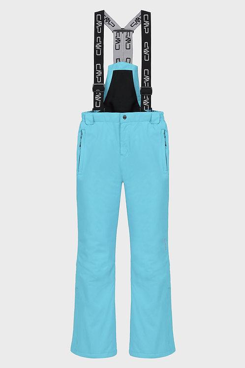 Детские голубые лыжные брюки KID SALOPETTE CMP