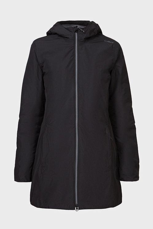 Женская черная куртка CMP WOMAN PARKA FIX HOOD