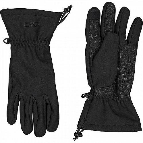 Женские черные перчатки CMP Woman Softshell Gloves
