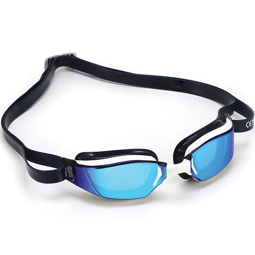 Очки для плавания Michael Phelps XCEED Mirror WH/BL L/MR-BL