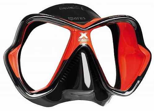 Маска Mares X-Vision Ultra LS, черно-красная