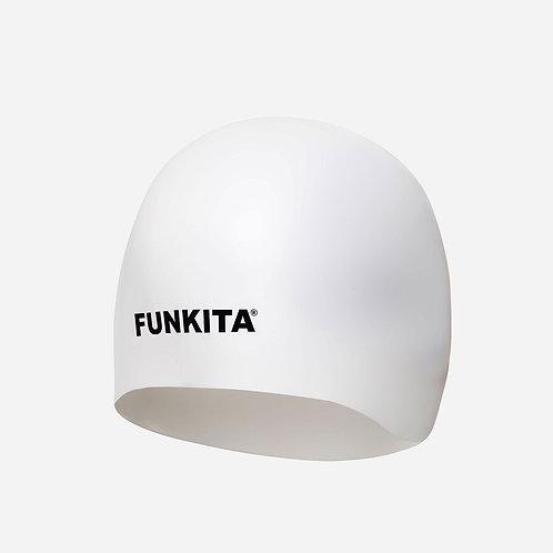 3D шапочка для плавания Funkita Still White
