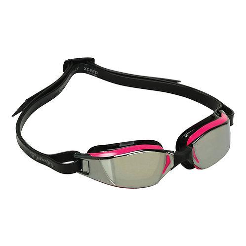 Зеркальные плавательные очки MP XCEED Mirror  MICHAEL PHELPS PK/BLK L/MR