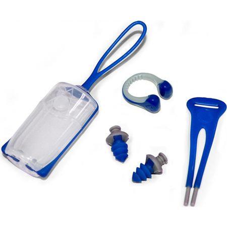 Зажим для носа Aqua Sphere Silicone Nose Clip+ беруши Ear Plugs Blue