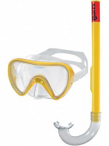 Детский набор для плавания Mares Tortuga (маска+трубка) желтый