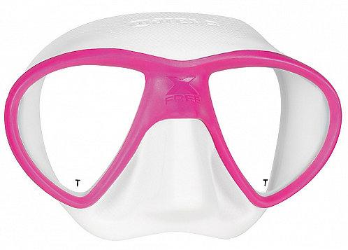 Маска для дайвинга X-Free от Mares (розово-белая)