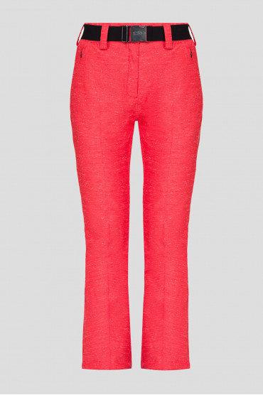 Женские красные лыжные брюки CMP WOMAN PANT