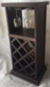 8 Bottle  6 Stemware Rack  Burnt Umber 2