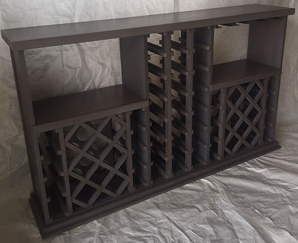 53 Bottle Double Bookcase Stemware  4 Me