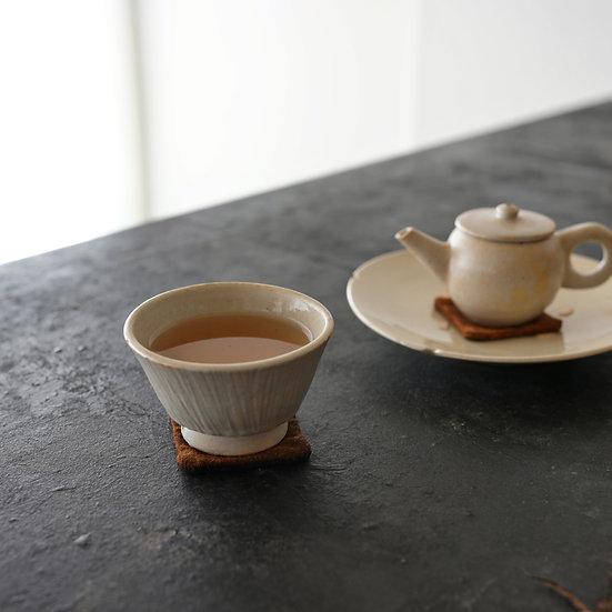 白瓷鎬茶坏① タナカシゲオ