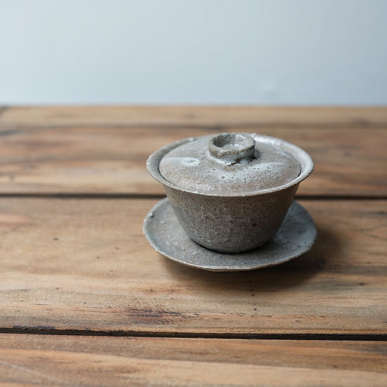 清水志郎  馬町土朝唐釉一人用蓋碗35cc B | Gaiwan by Shiro Shimizu