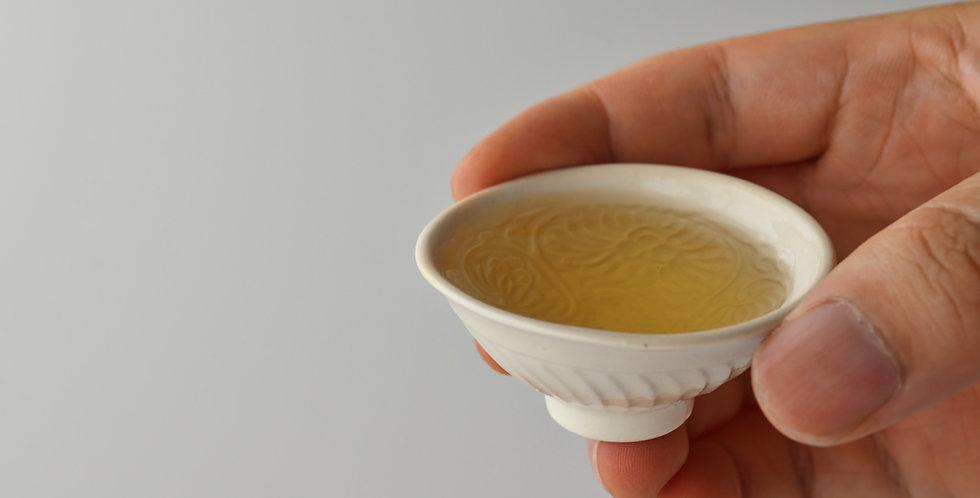 白瓷印花豆茶杯(イA) teacup