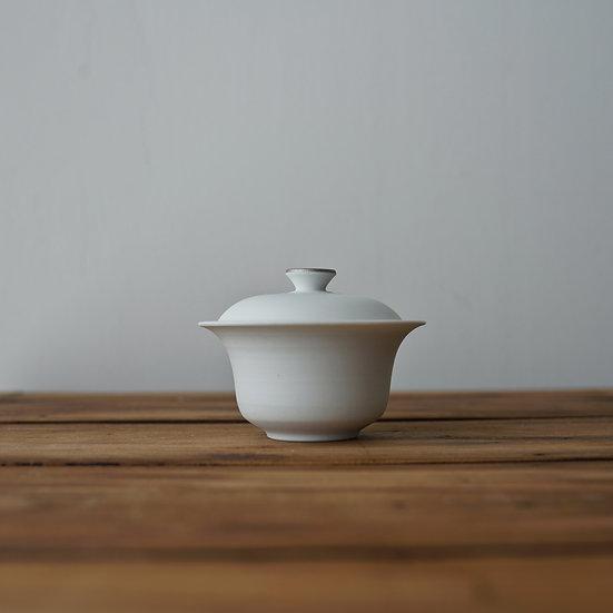小林千恵 白磁パラジウム蓋碗09 | White porcelain gaiwan by Chie Kobayashi