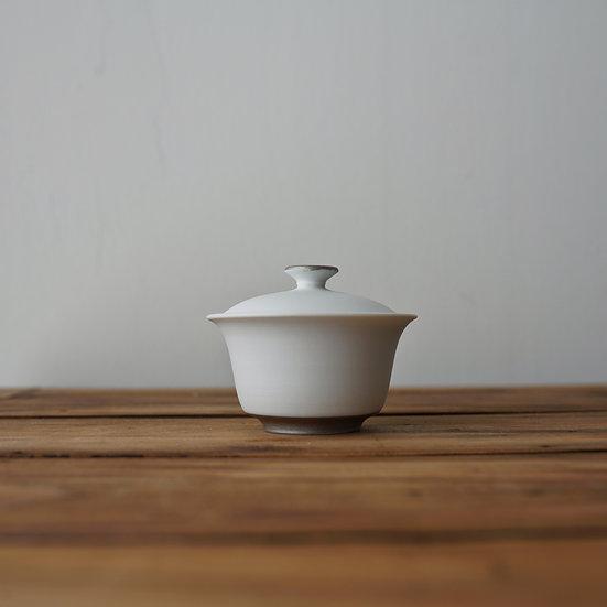 小林千恵 白磁パラジウム蓋碗10 | White porcelain gaiwan by Chie Kobayashi