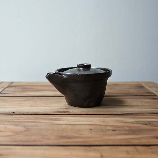清水志郎  智積土桂川石宝瓶 | Houhin (Japanese teapot) by Shiro Shimizu