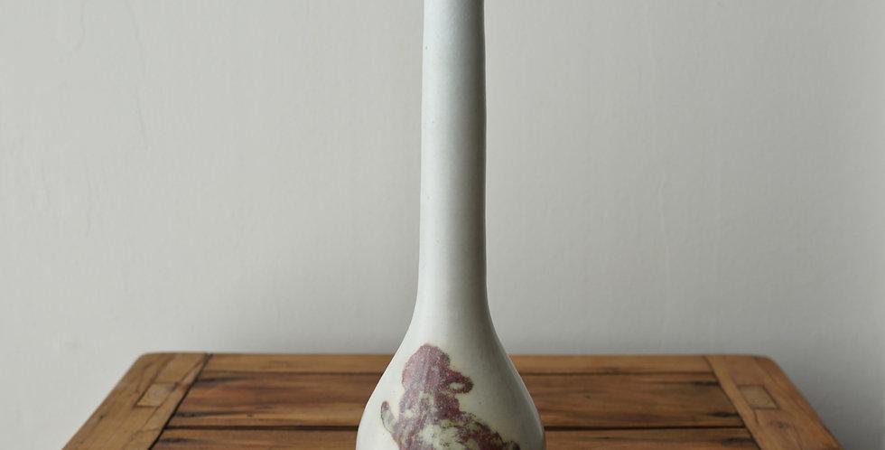 辰砂鶴首 vase