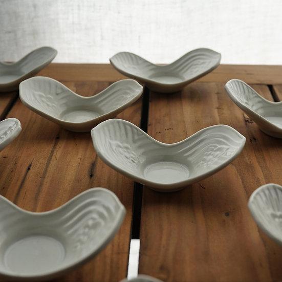 白瓷茶托(花蓮華) teacup saucer