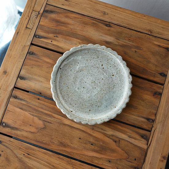 清水志郎  灰釉茶盤 | Tea plate by Shiro Shimizu