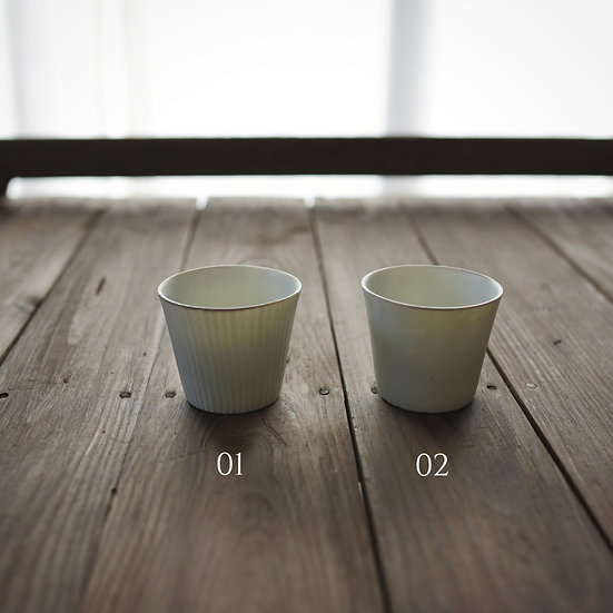 Fledspar teacup by Yuichi Murakami | 村上雄一 Feldspar ちょこ