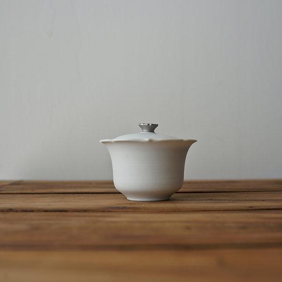 小林千恵 白磁パラジウム蓋碗03 | White porcelain gaiwan by Chie Kobayashi